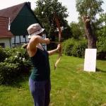 Bogenschießen als Aufgabe beim Bauernhofdiplom